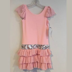 DOLLS & DIVAS**Stretchy by Pink Party Dress**Age 5
